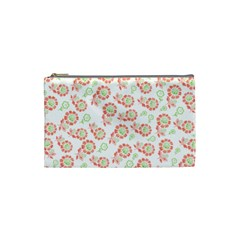 Flower Floral Red Star Sunflower Cosmetic Bag (small)  by Mariart