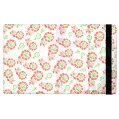 Flower Floral Red Star Sunflower Apple Ipad 3/4 Flip Case by Mariart