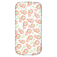 Flower Floral Red Star Sunflower Samsung Galaxy S3 S Iii Classic Hardshell Back Case by Mariart