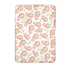 Flower Floral Red Star Sunflower Samsung Galaxy Tab 2 (10 1 ) P5100 Hardshell Case  by Mariart