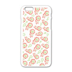 Flower Floral Red Star Sunflower Apple Iphone 6/6s White Enamel Case by Mariart