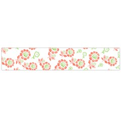 Flower Floral Red Star Sunflower Flano Scarf (large) by Mariart