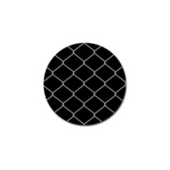 Iron Wire White Black Golf Ball Marker (4 Pack) by Mariart