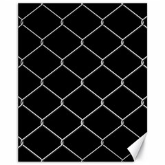 Iron Wire White Black Canvas 11  X 14   by Mariart