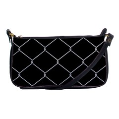 Iron Wire White Black Shoulder Clutch Bags by Mariart