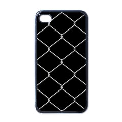 Iron Wire White Black Apple Iphone 4 Case (black) by Mariart