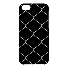 Iron Wire White Black Apple Iphone 5c Hardshell Case by Mariart