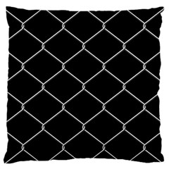 Iron Wire White Black Large Flano Cushion Case (two Sides) by Mariart