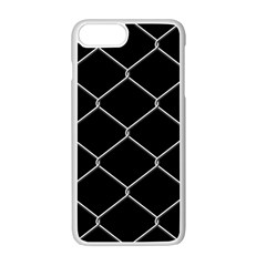 Iron Wire White Black Apple Iphone 7 Plus White Seamless Case by Mariart