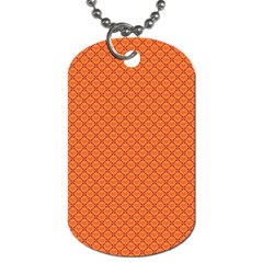 Heart Orange Love Dog Tag (two Sides) by Mariart