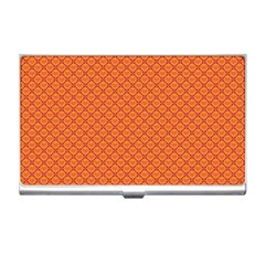 Heart Orange Love Business Card Holders by Mariart