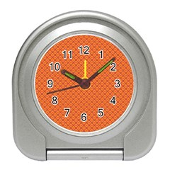 Heart Orange Love Travel Alarm Clocks by Mariart