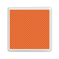 Heart Orange Love Memory Card Reader (square)  by Mariart