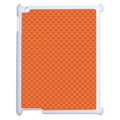 Heart Orange Love Apple Ipad 2 Case (white) by Mariart