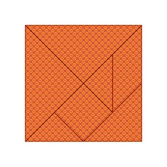 Heart Orange Love Acrylic Tangram Puzzle (4  X 4 ) by Mariart
