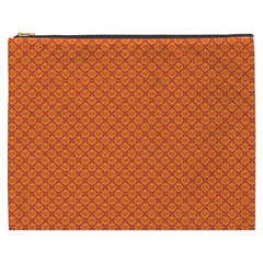Heart Orange Love Cosmetic Bag (xxxl)  by Mariart