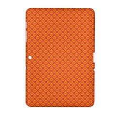Heart Orange Love Samsung Galaxy Tab 2 (10 1 ) P5100 Hardshell Case  by Mariart