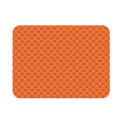 Heart Orange Love Double Sided Flano Blanket (mini)  by Mariart