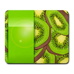 Fruit Slice Kiwi Green Large Mousepads by Mariart