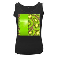 Fruit Slice Kiwi Green Women s Black Tank Top by Mariart