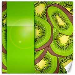 Fruit Slice Kiwi Green Canvas 20  X 20   by Mariart