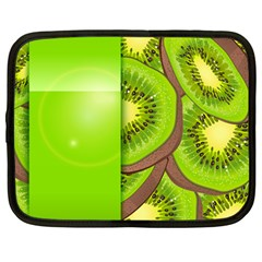 Fruit Slice Kiwi Green Netbook Case (large) by Mariart