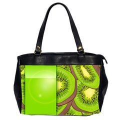 Fruit Slice Kiwi Green Office Handbags (2 Sides)  by Mariart