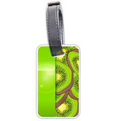 Fruit Slice Kiwi Green Luggage Tags (two Sides) by Mariart