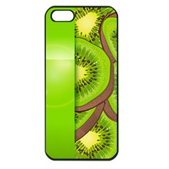Fruit Slice Kiwi Green Apple Iphone 5 Seamless Case (black) by Mariart