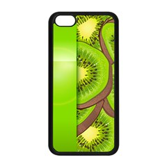 Fruit Slice Kiwi Green Apple Iphone 5c Seamless Case (black) by Mariart