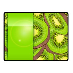 Fruit Slice Kiwi Green Double Sided Fleece Blanket (small)  by Mariart