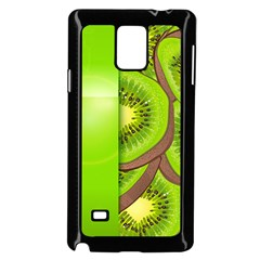 Fruit Slice Kiwi Green Samsung Galaxy Note 4 Case (black) by Mariart