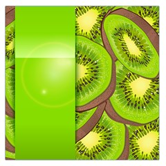 Fruit Slice Kiwi Green Large Satin Scarf (square) by Mariart