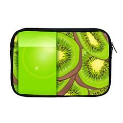 Fruit Slice Kiwi Green Apple Macbook Pro 17  Zipper Case by Mariart