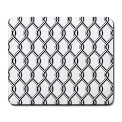 Iron Wire Black White Large Mousepads by Mariart