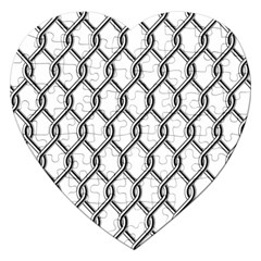 Iron Wire Black White Jigsaw Puzzle (heart) by Mariart