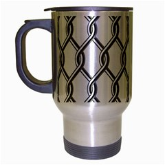 Iron Wire Black White Travel Mug (silver Gray) by Mariart