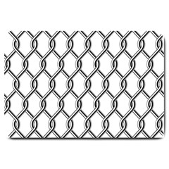 Iron Wire Black White Large Doormat  by Mariart