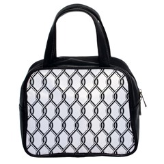 Iron Wire Black White Classic Handbags (2 Sides) by Mariart
