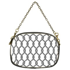Iron Wire Black White Chain Purses (two Sides)  by Mariart