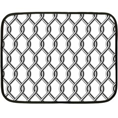 Iron Wire Black White Double Sided Fleece Blanket (mini)  by Mariart