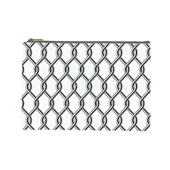 Iron Wire Black White Cosmetic Bag (large)  by Mariart
