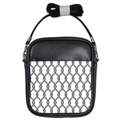 Iron Wire Black White Girls Sling Bags by Mariart