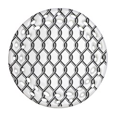 Iron Wire Black White Round Filigree Ornament (two Sides) by Mariart