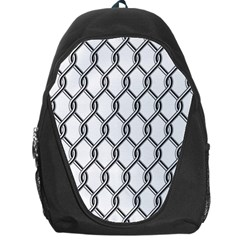 Iron Wire Black White Backpack Bag by Mariart