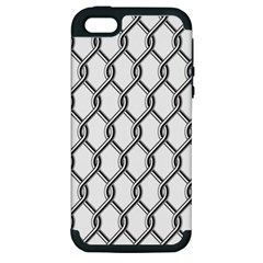 Iron Wire Black White Apple Iphone 5 Hardshell Case (pc+silicone) by Mariart