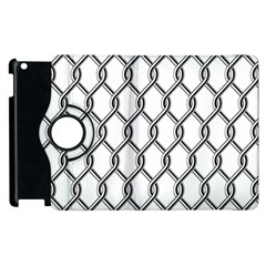 Iron Wire Black White Apple Ipad 2 Flip 360 Case by Mariart