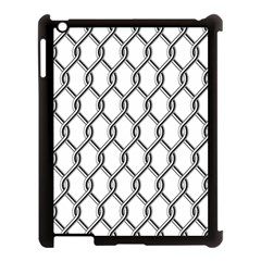 Iron Wire Black White Apple Ipad 3/4 Case (black) by Mariart