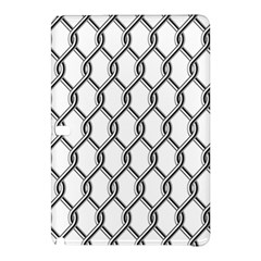 Iron Wire Black White Samsung Galaxy Tab Pro 12 2 Hardshell Case by Mariart
