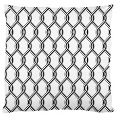 Iron Wire Black White Large Flano Cushion Case (two Sides) by Mariart